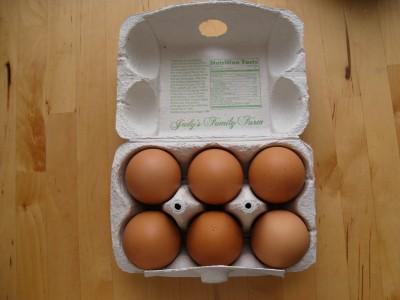 6 eggs.