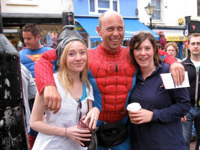 meeting the British spider-man.